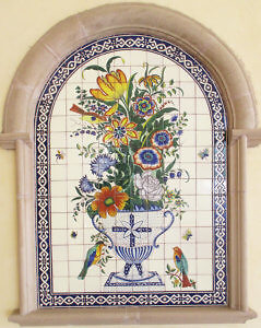 A mosaicof flowers greets guests to the Hilton N'Djamena,Chad. (Photo by Susan McKee)