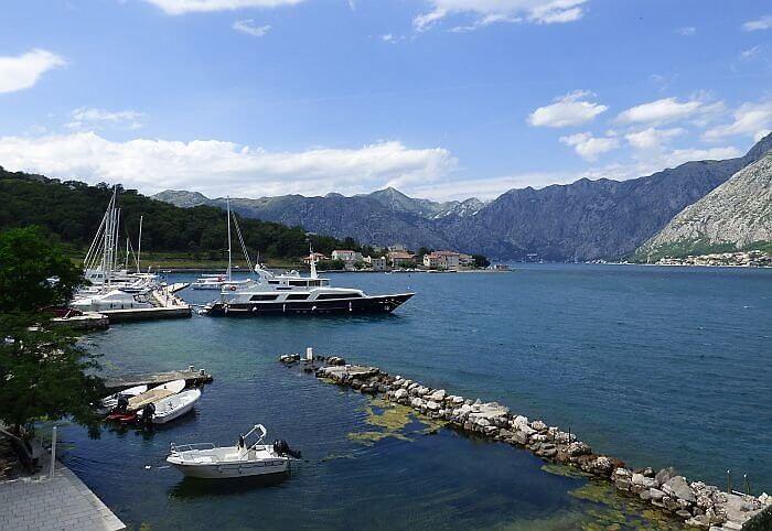View from Hotel Splendido Kotor
