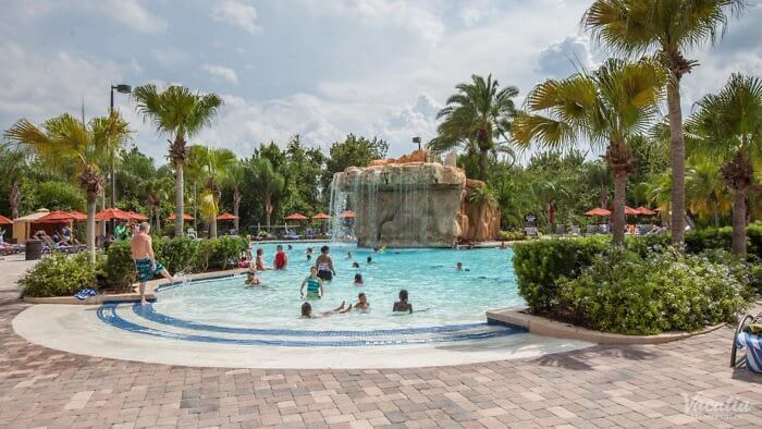 Escape the heat in one of four pools at Mystic Dunes Resort & Golf club, Orlando, Florida