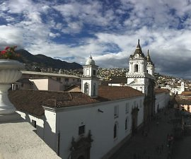 Quito view from terrace at Casa Gangotena