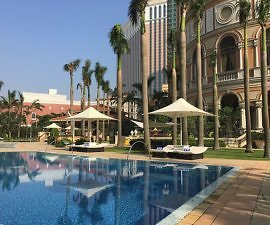 outdoor pool at Four Seasons Macao Cotai Strip