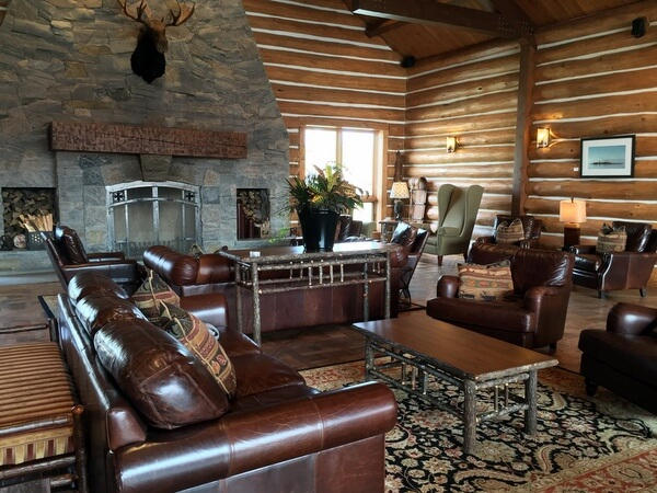 Lobby, Killarney Mountain Lodge, Killarney, Ontario, Canada