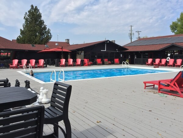 Pool, Killarney Mountain Lodge, Killarney, Ontario, Canada