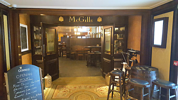 McGill's Irish Pub, an onsite dining option at Powerscourt Hotel Resort Spa, Ireland