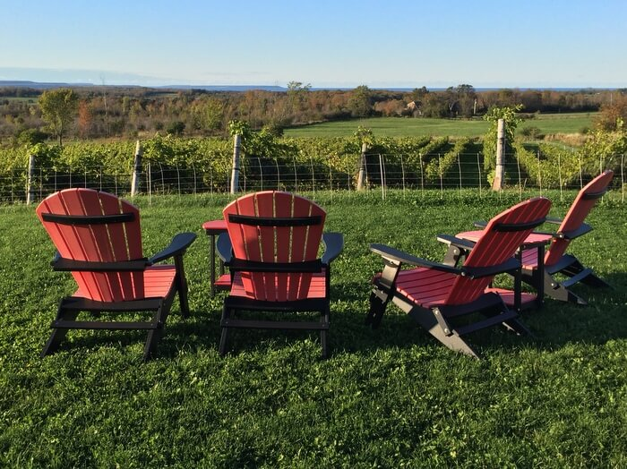 The Resting Place at Ontario's Coffin Ridge Winery