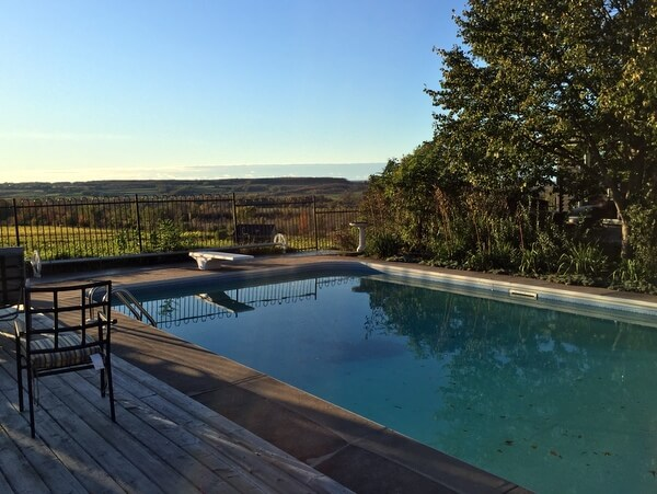 Pool, The Resting Place at Coffin Ridge Winery, Grey County, Ontario, Canada