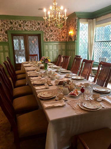 sunday brunch, rose hill estate, bed and breakfast, aiken, south carolina