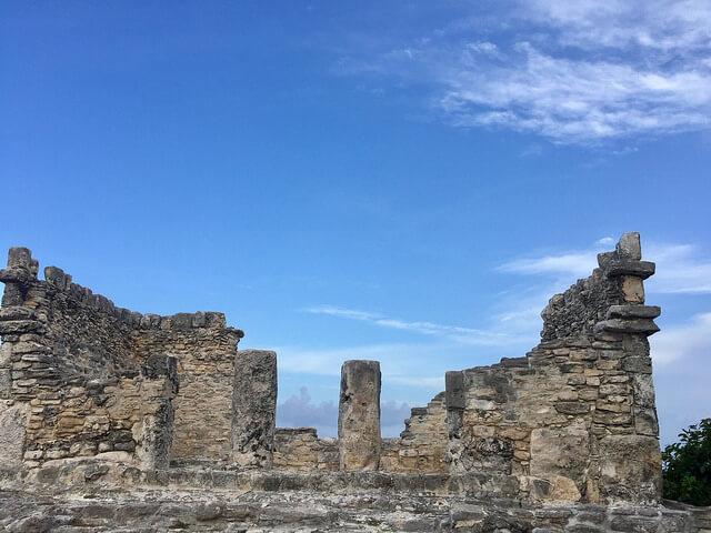 mayan ruin yamil lu'um, westin lagunamar ocean resort, cancun, mexico