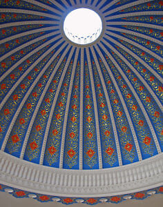 Dome in lobby of Minorai-Kalon Hotel, Bukhara, Uzbekistan (Photo by Susan McKee)