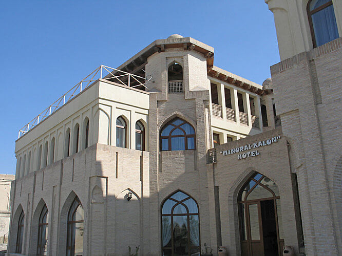 Minorai-Kalon Hotel, Bukhara, Uzbekistan (Photo by Susan McKee)