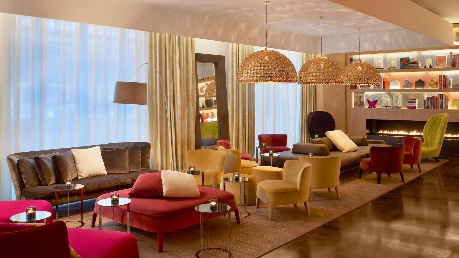 Living Room Lounge (Photo courtesy of W Hotel, St. Petersburg, Russia)
