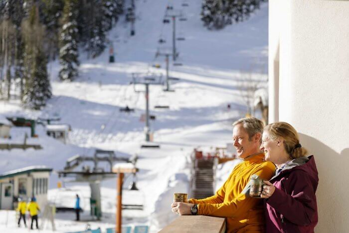 The Blake offers hotel guests ski-in/ski-out access to Taos Ski Valley in New Mexico.