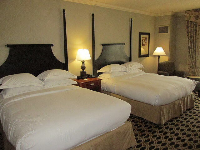 double queen room, hilton columbia center, columbia, south carolina hotel