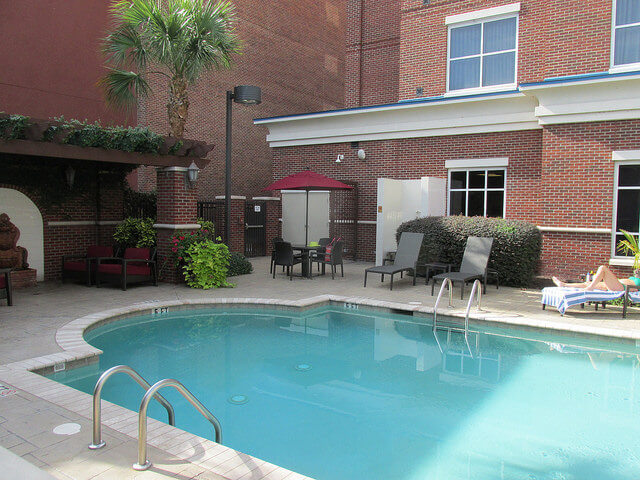 saltwater swimming pool, hilton columbia center, columbia, south carolina