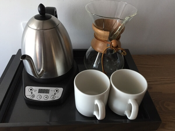 Coffee service, The Walper boutique hotel, Kitchener, Ontario, Canada