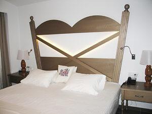 Bedroom, Platanias Ariston, Crete, Greece (Photo by Susan McKee)