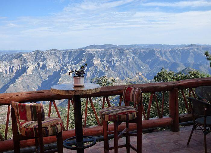 Hotel Mirador Copper Canyon view