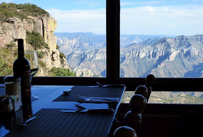 Hotel Mirador Copper Canyon dining room view