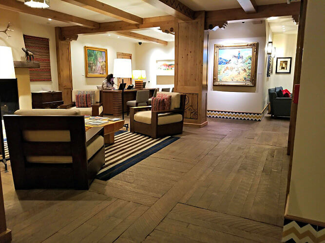 The Blake, a hotel lodge in Taos Ski Valley, New Mexico, is all about its art, from the lobby to each of the floors.