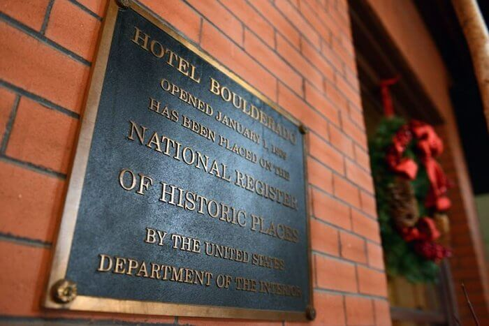 Hotel Boulderado is on the National Register of Historic Places.