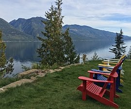 Lake views, The Sentinel, Kaslo BC Canada