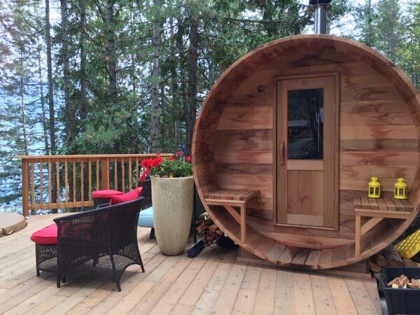 Sauna, The Sentinel, Kaslo BC Canada