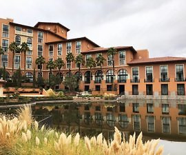 The Westin Lake Las Vegas exterior shot with lake view