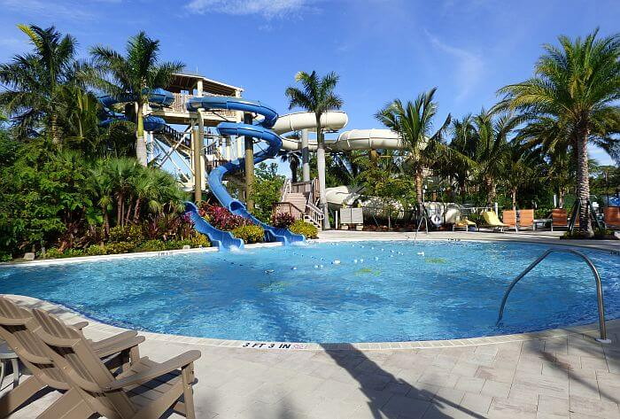 Hyatt Coconut point adventure pool with slides and lazy river
