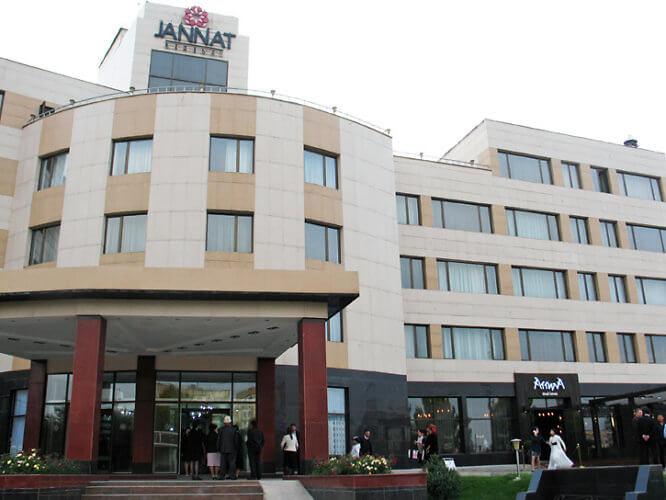 Jannat Regency Hotel, Bishkek, Kyrgyzstan (Photo by Susan McKee)