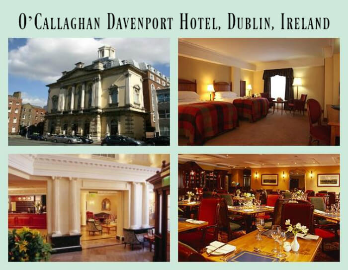 Best places to stay in Ireland include the historic O'Callaghan Davenport Hotel in the heart of Dublin, Ireland