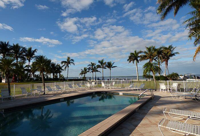 pool at Tarpon Lodge on the Gulf Coast of Florida