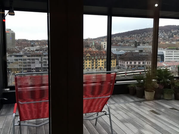 Roof terrace, 25hours Hotel Zurich Langstrasse, Zurich, Switzerland