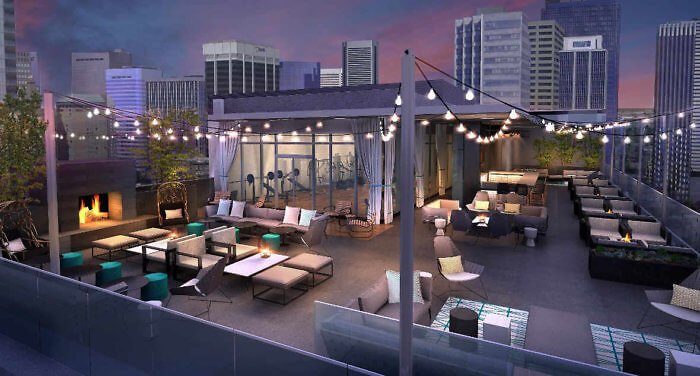 Perhaps the best rooftop view in the city, the AC Hotel Denver Downtown.