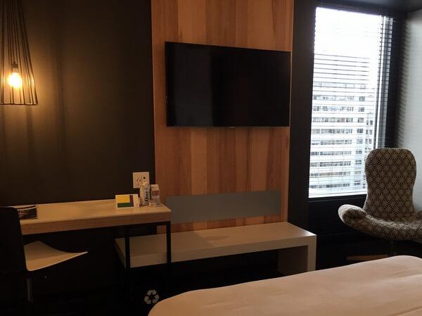 Guest room, ALT Hotel Ottawa, Ontario, Canada