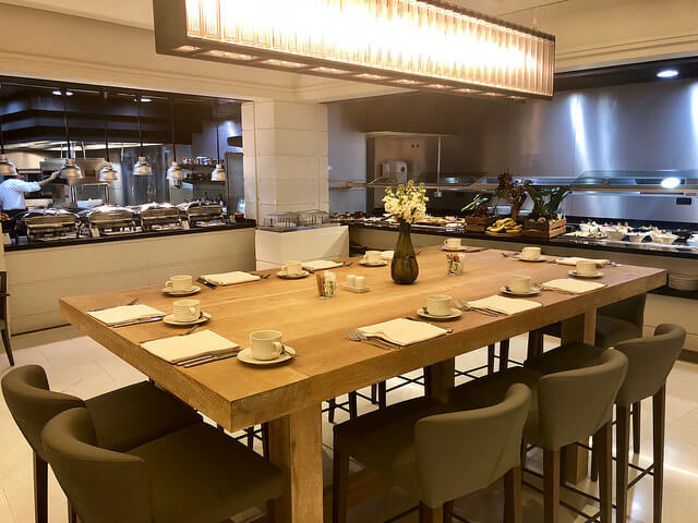 breakfast, market restaurant, fairmont rey juan carlos hotel, barcelona, spain