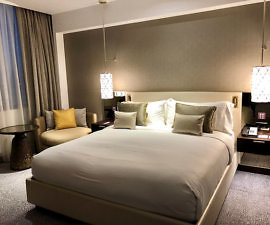 executive suite, fairmont rey juan carlos I, barcelona, spain hotel