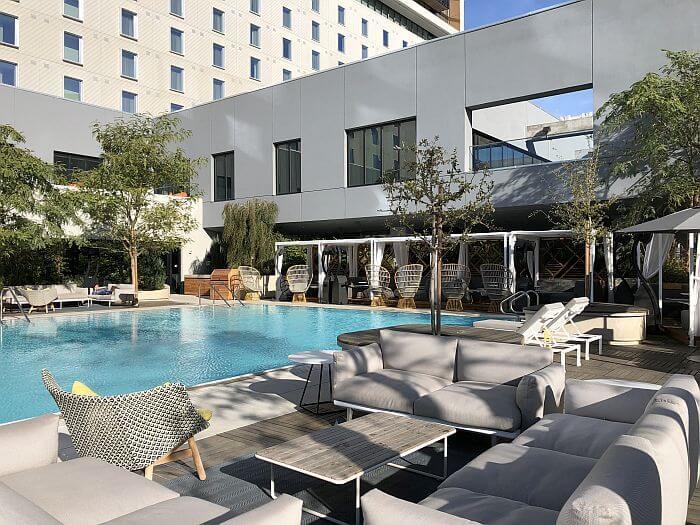 outside pool at Kimpton Sawyer Hotel