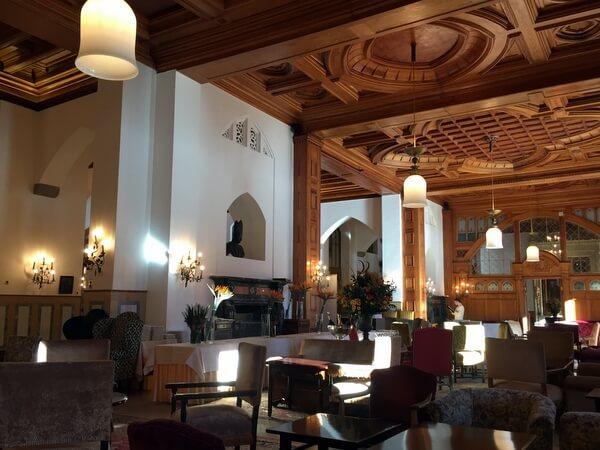 Lobby, Badrutt's Palace Hotel, St. Moritz, Switzerland