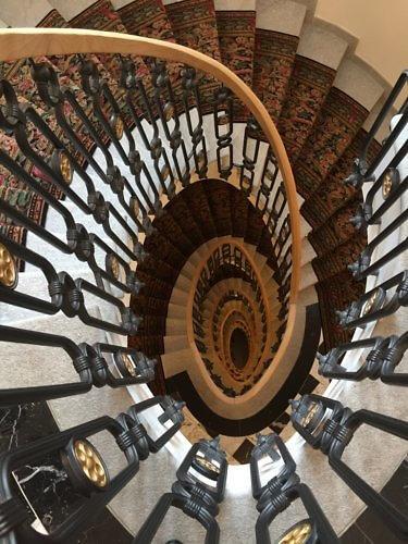 Stairs, Badrutt's Palace Hotel, St. Moritz, Switzerland
