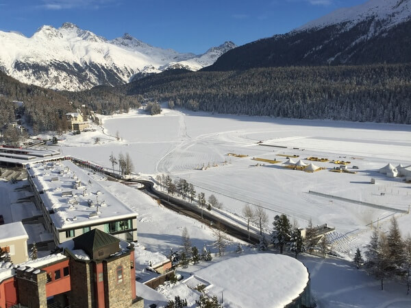 Mountain views, Badrutt's Palace Hotel, St. Moritz, Switzerland
