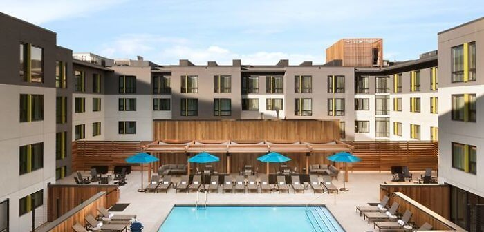 Rooftop pool at Embassy Suites by Hilton Boulder, Colorado