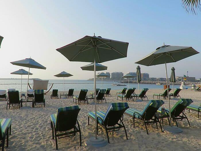 beach side view Four Seasons Resort Dubai at Jumeirah Beach