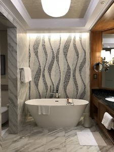 Four Seasons Resort Dubai at Jumeirah Beach soaking tub