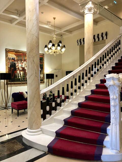 staircase, grand hotel thalasso lobby, art deco hotel, saint jean de luz, france