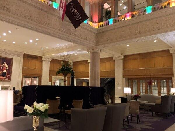 Lobby, Omni King Edward Hotel, Toronto, Ontario, Canada