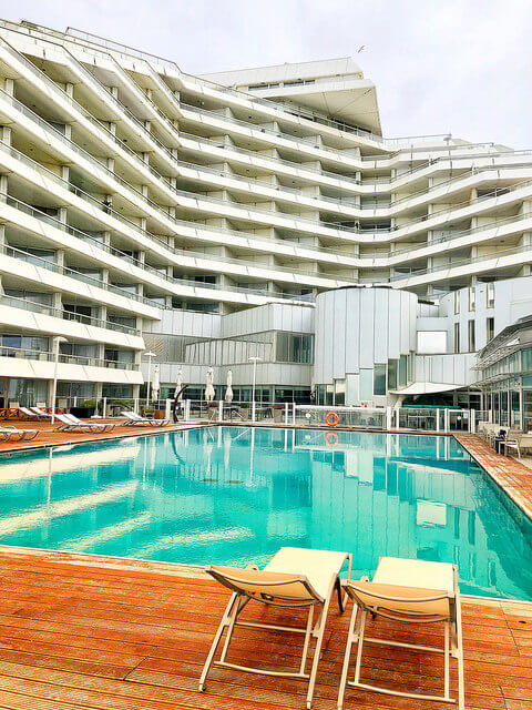 sofitel biarritz le miramar thalassa sea & spa hotel, swimming pool, biarritz, france, saltwater pool