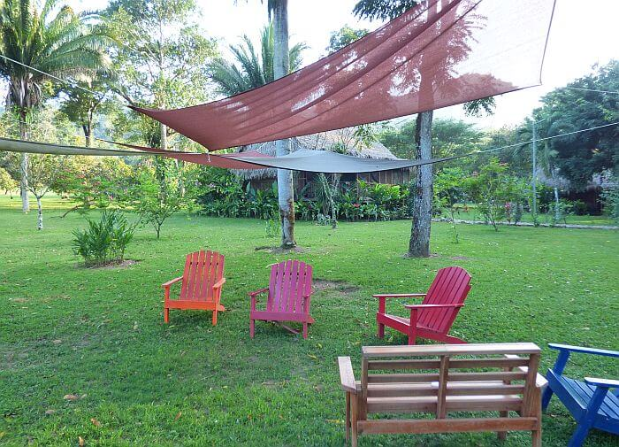 Sitting area at Bocawina Resort near Dangriga and Hopkins, Belize