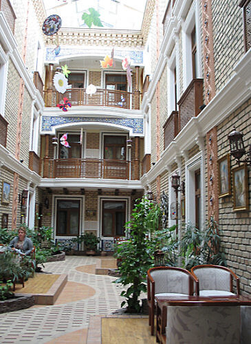 Courtyard, Grand Samarkand Superior Hotel, Uzbekistan
