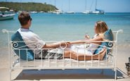 Antigua Inn at English Harbour couple enjoy beach view