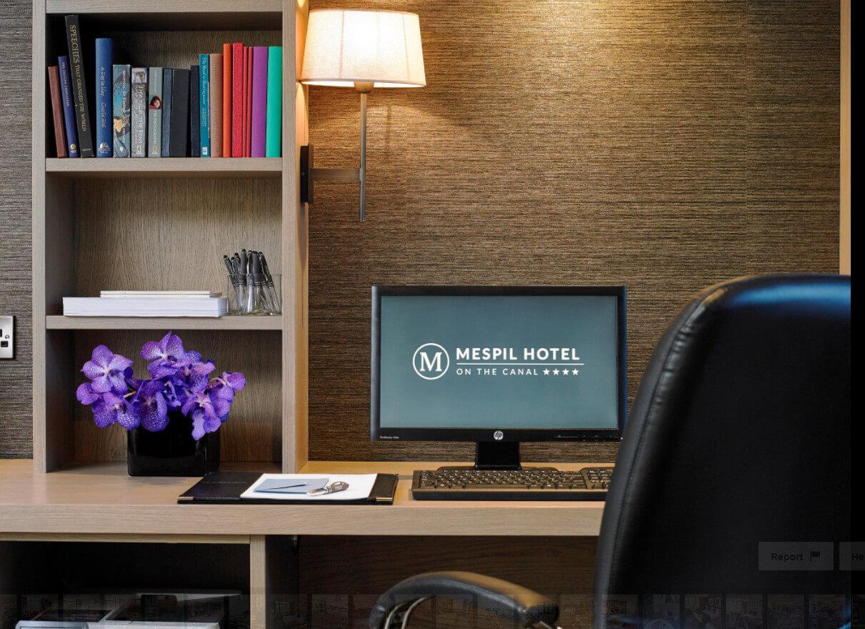 Office Desk Mespil Hotel Dublin